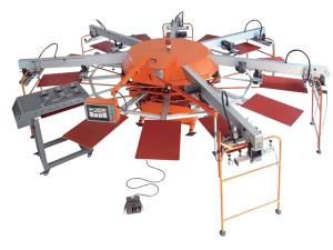 Multi-color Automatic Rotating Screen Printing Machine